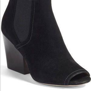 Tory Burch Gemma Open Toe Black Ankle Booties Sz 8